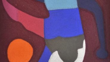 Julian Martin, Not titled (AFL player) detail, 2014, pastel on paper, 38 x 28.5 cm. Image courtesy of Arts Project Australia