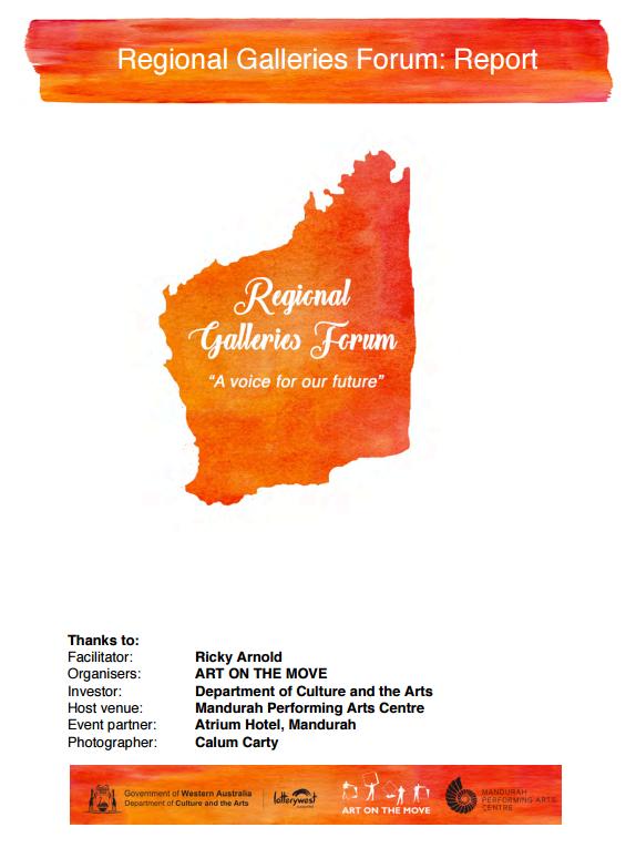 Regional Galleries Forum Report 2016