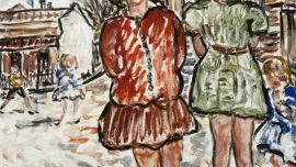 Danila Vassilieff Valerie and Betty 1937 oil on plywood 44.9 x 53.5 cm Heide Museum of Modern Art, Melbourne Purchased from John and Sunday Reed 1980