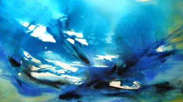 Ying Tang, Fish freedom 2013, watercolour, 106 x 76cm. © the Artist.