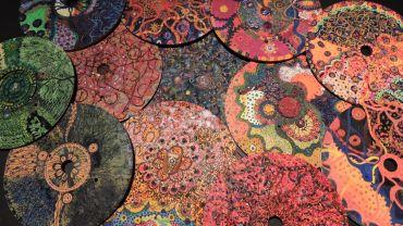 Image caption: Mandalas exhibited in Excerpts 2015. The Block, QUT, Brisbane. 30cm round.