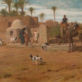 Frederick Goodall, An Eastern well 1897, oil on canvas, Geelong Gallery. Gift of JH McPhillimy, 1935.