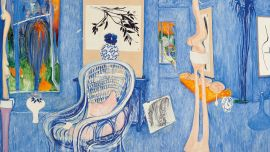 Brett Whiteley My armchair 1976 oil on canvas 206.5 x 283.5 cm Private collection, Melbourne © Wendy Whiteley
