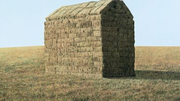 William Delafield Cook, A Haystack 1978 (detail), synthetic polymer paint on canvas, 152.2 x 212.3 cm. TarraWarra Museum of Art collection. Gift of Eva Besen and Marc Besen AO 2001.