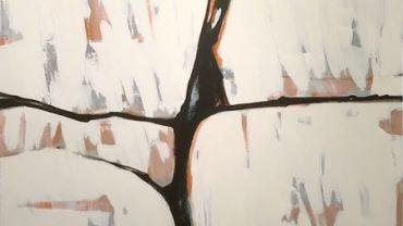 image: Dianne Mangan, Crevice I, 2016, detail, acrylic on canvas, 120 x 130cm.