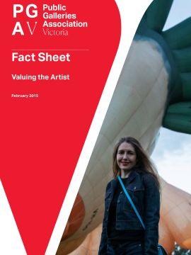PGAV Fact Sheet Valuing the Artist Cover