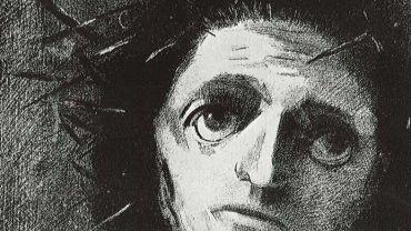 Odilon REDON, Christ, 1887, lithograph on paper, 33 x 27cm. Private Collection.