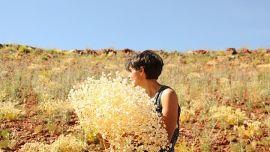 Katie West, Nyinyart Yinda artist-in-residence program with Juluwarlu Aboriginal Corporation in Roebourne, Western Australia. Image credit: Juluwarlu Aboriginal Corporation. Courtesy of the artist.