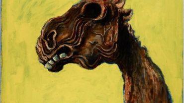 Albert Tucker, Apocalyptic Horse, 1956, oil on hardboard, 62 x 81 cm. Art Gallery of New South Wales, Sydney Purchased 1982. Courtesy of Sotheby's Australia © Albert & Barbara Tucker Foundation.