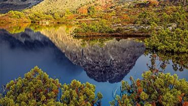 Peter DOMBROVSKIS Morning light on Little Horn, Cradle Mountain-Lake St Clair National Park, Tasmania 1995 courtesy of the National Library of Australia and the Estate of Peter Dombrovskis