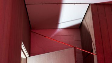 Lydia WEGNER  Bathroom Red  2019 from the series Boyd House Constructions courtesy of the artist and ARC ONE Gallery, Melbourne