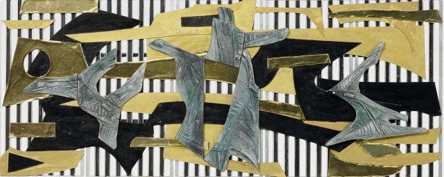 BALLARAT symposium inge-king-model-for-screen-1958-detail.-enamel-paint-on-wood