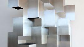 Image: Korban Flaubert, Marquette for involute 2009, stainless steel, Photo: Stephanie Flaubert (detail)