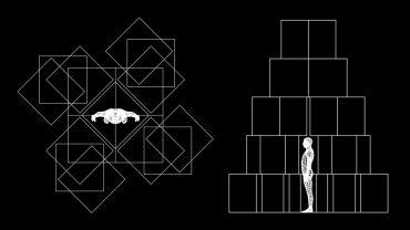 Simon Finn, Dwelling schematic – Stage 1 [detail], digital image, 2019. Image courtesy of the artist.