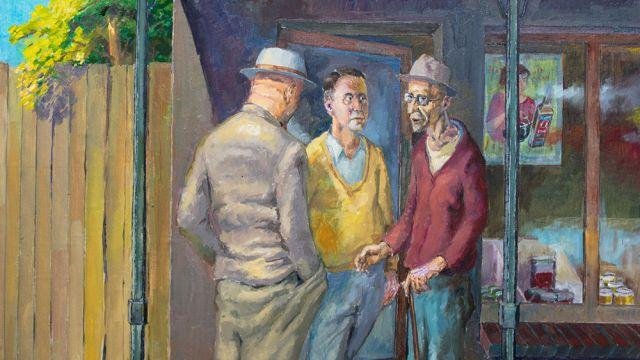 Phil Kreveld | In 1954 I wanted to be an artist | 2019 | Oil on linen | 71 x 61 cm
